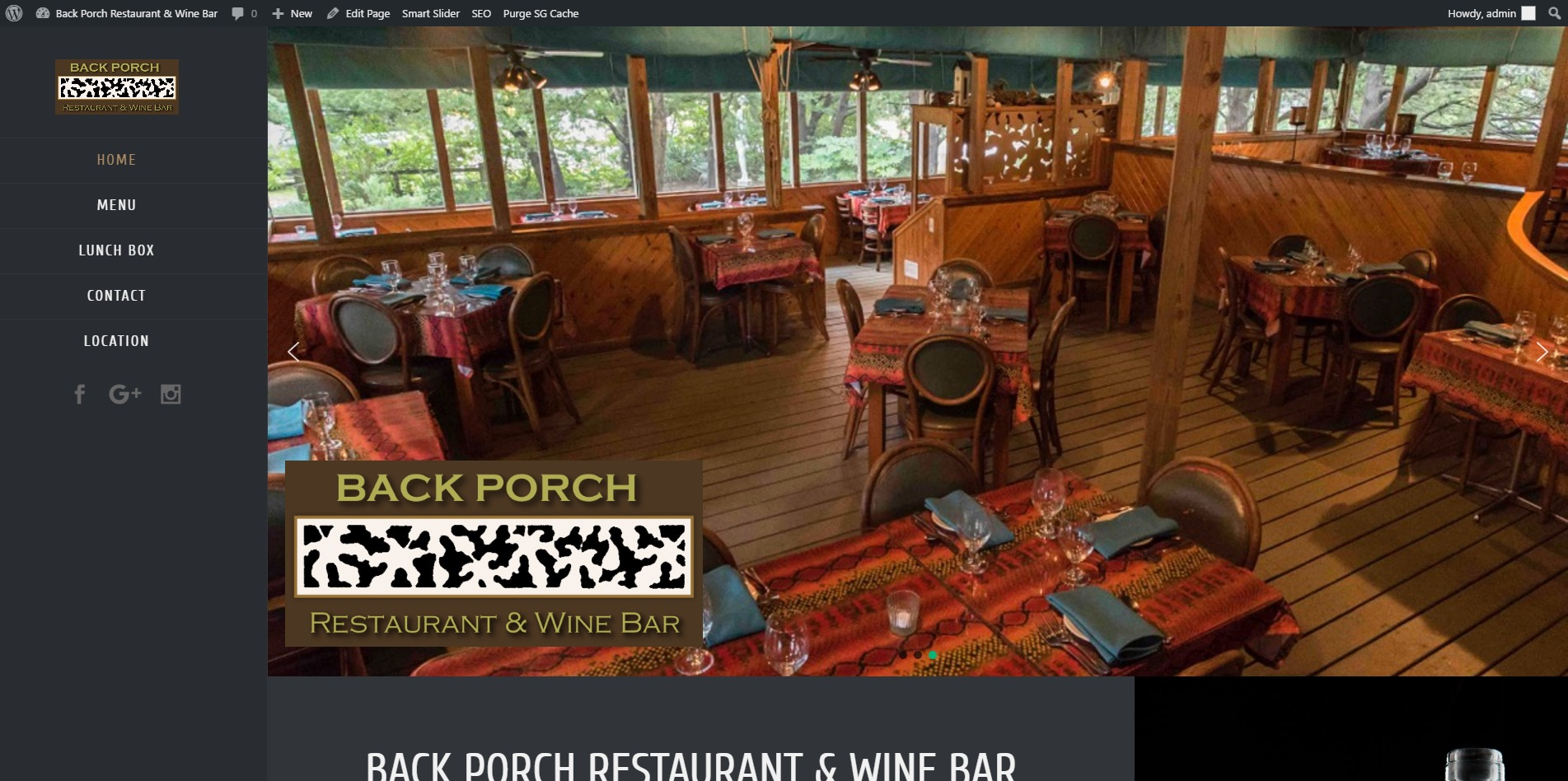 BACK PORCH RESTAURANT & WINE BAR