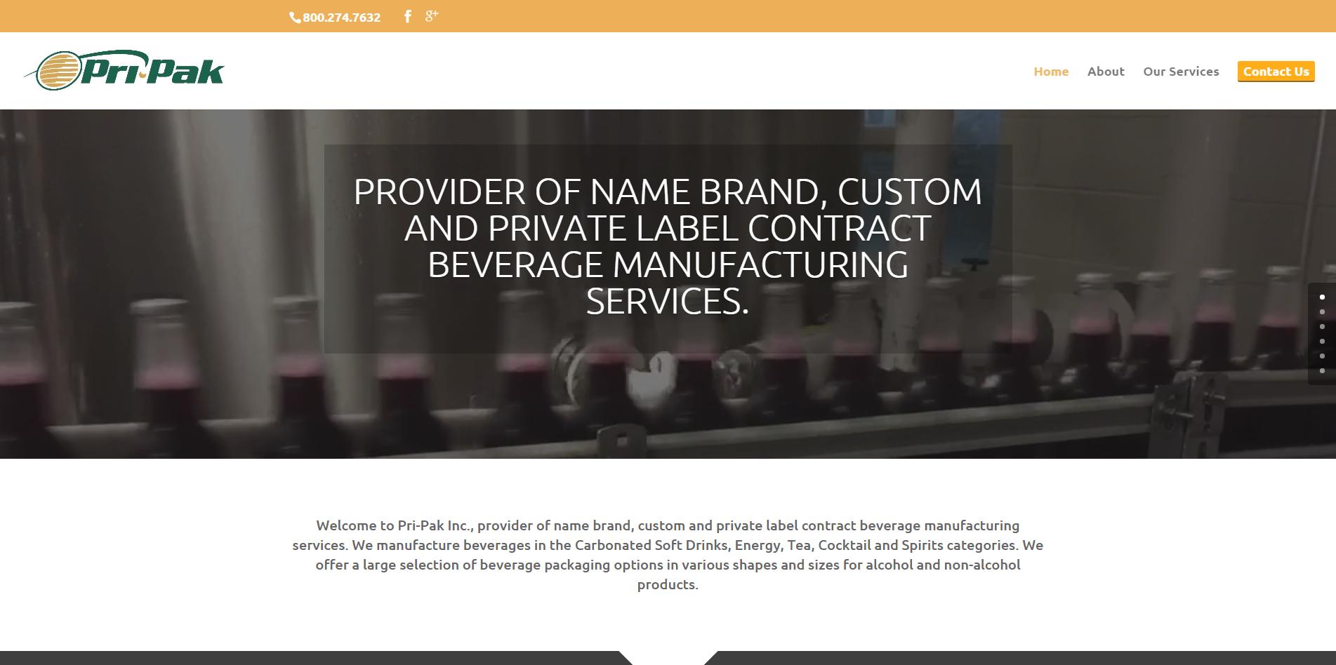 Pri-Pak, Inc. - private label contract beverage manufacturing services